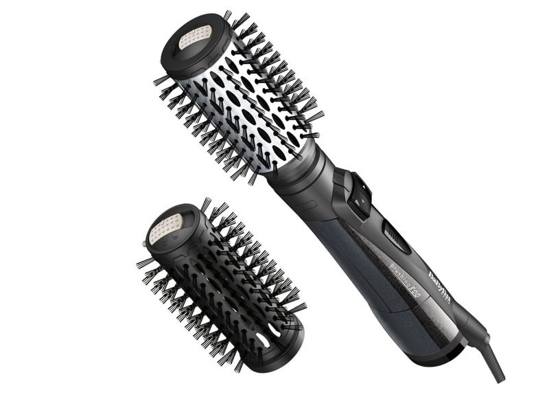 Spazzola rotante e capelli ricci